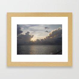 Clouds In Jamaica Framed Art Print