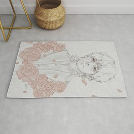 Taehyung with roses Rug