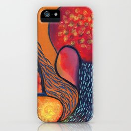 Dance in Orange iPhone Case