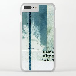 Polish Ferns Clear iPhone Case