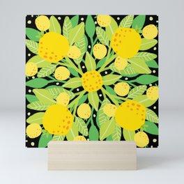 When life gives you lemons, make a lemon pattern Mini Art Print