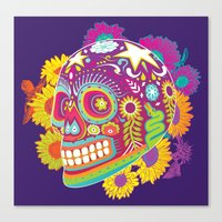 calavera Canvas Prints featuring Calavera by KoolaidGirl