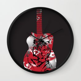 Roaring Guitar Wall Clock