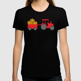 Fall Tractor Pulling Pumpkins Tractor Rides Autumn T-shirt