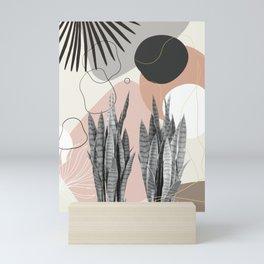Snake Plant Fan Palm Finesse #2 #tropical #decor #art #society6 Mini Art Print
