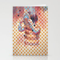 third eye Stationery Cards featuring Third eye by Cristian Blanxer