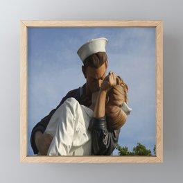Kissing Sailor And Nurse Portrait Framed Mini Art Print