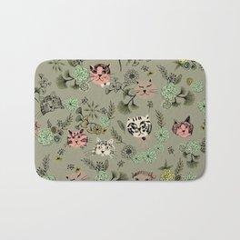 Floating Cat Head Bath Mat