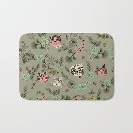 Floating Cat Head Bath Mat