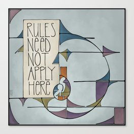 Rules Canvas Print