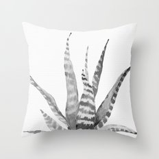 Southwest Minimalist Echeveria Throw Pillow