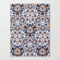 cigarettes Canvas Prints featuring cigarettes pattern by Sushibird