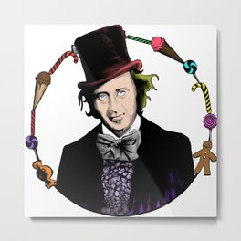 Merry Christmas From The Chocolate Factory Metal Print