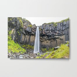 Smooth Svartifoss Metal Print