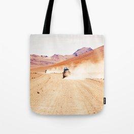 Road Racing Desert (Color) Tote Bag