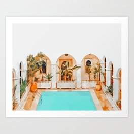 Turkish Holiday #painting #travel Art Print