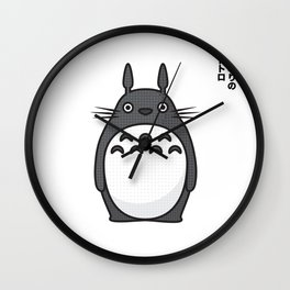 Totoro Pop Art - White Version Wall Clock
