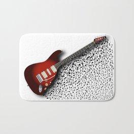 Musical Guitar Background Bath Mat
