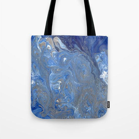 River of Silver Blues Tote Bag