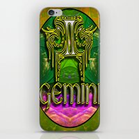 astrology iPhone & iPod Skins featuring Gemini Zodiac Sign Astrology by CAP Artwork & Design