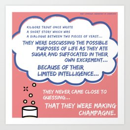 They Were Making Champagne... Art Print