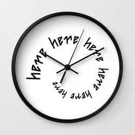 HERE AWAY ambigram Wall Clock