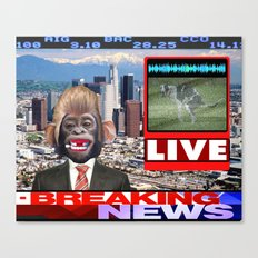 LIVE BREAKING NEWS Canvas Print