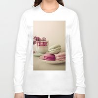 macaroons Long Sleeve T-shirts featuring Lilac and Macaroons by Olivia Joy StClaire