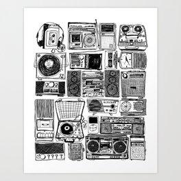 Music Boxes Art Print