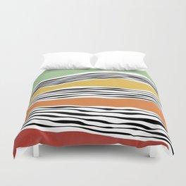 Modern irregular Stripes 06 Duvet Cover