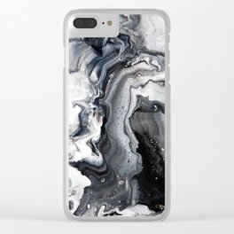 Marble B/W/G Clear iPhone Case