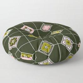 Talavera Mexican Tile – Blush & Sage Palette Floor Pillow