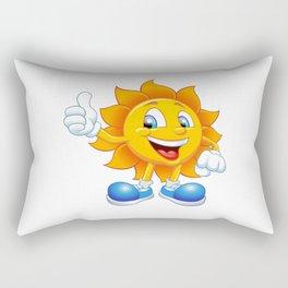 smiling sun cartoon Rectangular Pillow