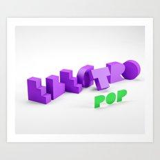 Electro Pop Art Print
