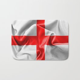 English St Georges Cross Flag Bath Mat
