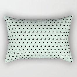 Black triangel in mint blue background Rectangular Pillow