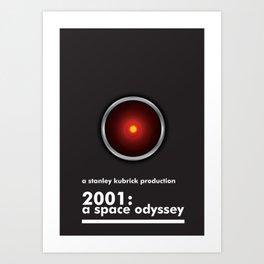 2001: A Space Odyssey - HAL 9000 Art Print