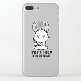 Coffee late sleepers Bunny up early gift Clear iPhone Case