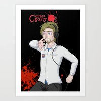 pewdiepie Art Prints featuring Pewdiepie: Corpse Party by SofusGirl