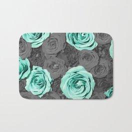 Teal Flower Bath Mat