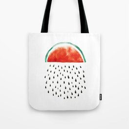 watermelon rain Tote Bag
