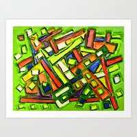 oakland Art Prints featuring Uptown Oakland by Octavious Sage