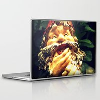 gnome Laptop & iPad Skins featuring Laughing Gnome by Austin D.