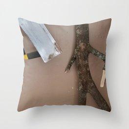Stickman Revolts Throw Pillow