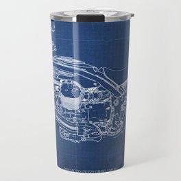 2010 Moto Guzzi Griso1200 8V, motorcycle blueprint, blue poster,milimiter,original poster,giftforhim Travel Mug