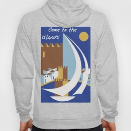 Come to the islands retro travel Hoody
