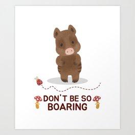 Cute vegan gift wild boar vegetarian shirt Art Print