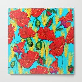 Mohnblüten,Poppies, Metal Print