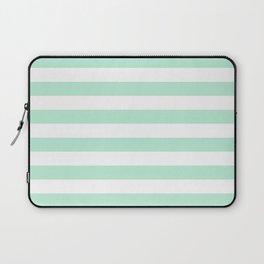 Stripe Horizontal Mint Green Laptop Sleeve