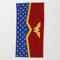 Wonder Of Woman - Superhero Beach Towel